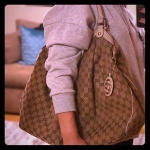 Authentic Gucci Monogram Sukey Shoulder Bag